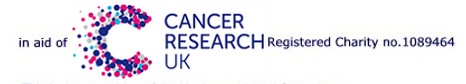 in aid of Cancer Research UK logo